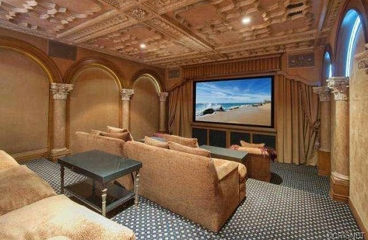 Kobe Bryant mansion theater