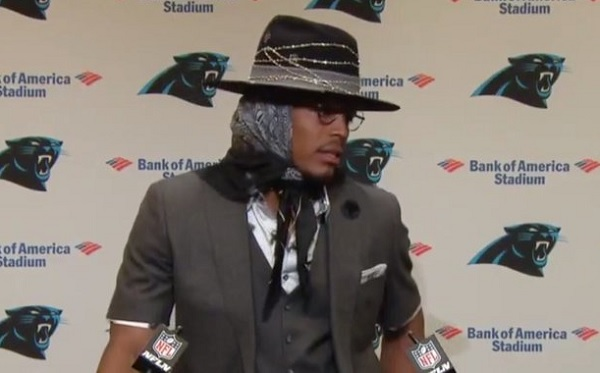 Cam Newton hat outfit
